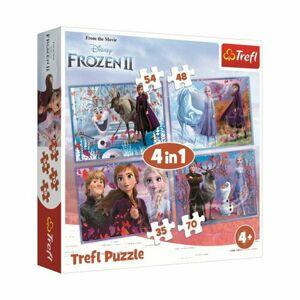 Trefl Puzzle Ľadové kráľovstvo 2 - Cesta do neznáma 4v1
