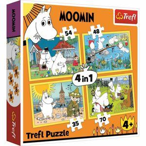 TREFL Mumínci 4v1 35,48,54,70 dielov puzzle