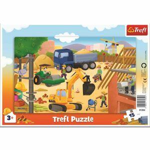 Trefl detské puzzle Na stavenisku 15 dielikov