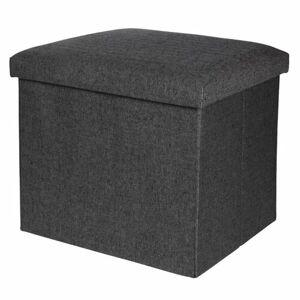Úložný sedací box Faro tmavosivá, 38 x 38 cm