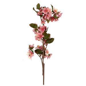 Umelá kvetina Čerešňový kvet ružová, 70 cm