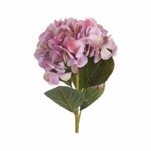 Umelá kvetina Hortenzia ružová, 65 cm