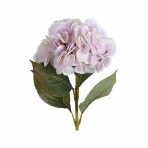 Umelá kvetina Hortenzia svetloružová, 65 cm