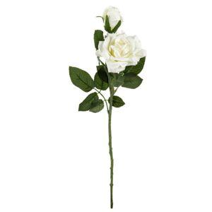 Umelá kvetina Ruža krémová, 46 cm