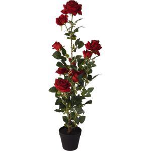 Umelá stromčeková ruža v kvetináči červená, 95 cm