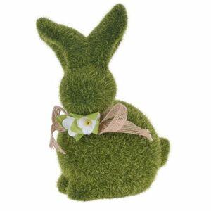Veľkonočná dekorácia Zelený zajačik, 20 cm