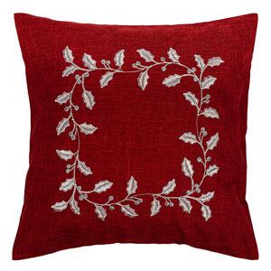 Forbyt Vianočná obliečka na vankúšik Cezmína červená, 40 x 40 cm