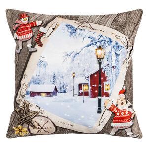 BO-MA Trading Vianočná obliečka na vankúšik Tichá noc