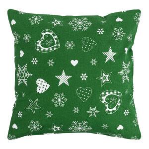 Forbyt Vianočná obliečka na vankúšik 2013 zelená, 40 x 40 cm