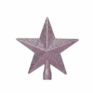 Vianočná špička na stromček Glitter star, ružová