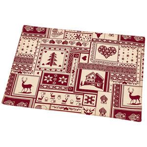 Trade Concept Vianočné prestieranie Patchwork červená, 33 x 45 cm