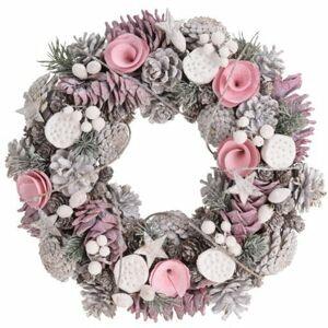 Vianočný dekoračný veniec Valentina, 34 cm