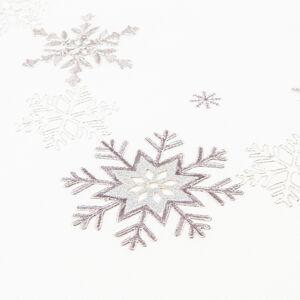 Forbyt Vianočný obrus Vločky strieborná