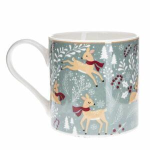 Vianočný porcelánový hrnček Winter Forest, 400 ml