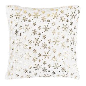 Dakls Vianočný vankúšik Vločka biela, 43 x 43 cm