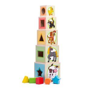Woody veža z 5tich kociek zvieratká